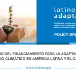 """Publicación: """"Desafíos del Financiamiento para la Adaptación al Cambio Climático en América Latina y el Caribe"""""""