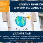 Últimos días para presentarte a las becas para jóvenes activistas climáticos para la Maestría en Derecho y Economía del Cambio Climático de FLACSO Argentina