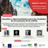 Webinar: Desafíos y Oportunidades para las Ciudades en el contexto de la COP26