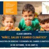 """FLACSO Argentina te invita a la clase abierta """"Niñez, Salud y Cambio Climático"""""""