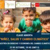 """Conocé a los panelistas de la clase abierta """"Niñez, Salud y Cambio Climático"""" de FLACSO Argentina"""